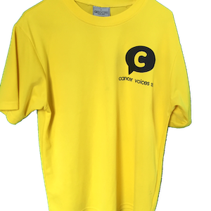 Cancer Voices casual T-shirt yellow